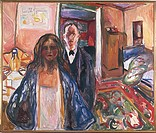 Edvard Munch (1863-1944), The Artist and the Model, 1919-21.  Oslo, Munchmuseet (Munch'S Museum, Art Museum)