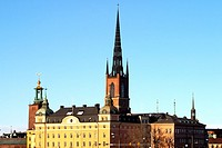 Riddarholms church and buildings, Stockholm, Sweden
