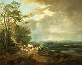 Schallas Karoly (18th century), Stormy Landscape, 1790.  Budapest, Magyar Nemzeti Galeria (Fine Arts Museum)