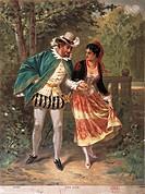 Francia - 19th century. Don Juan by Wolfgang Amadeus Mozart (1756-1791). Postcard.  Paris, Bibliothèque-Musée De L'Opéra National De Paris-Garnier (Li...