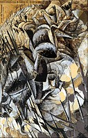 Umberto Boccioni (1882-1916), The Charge of the Lancers, 1915.  Milan, Pinacoteca Di Brera (Art Gallery, Paintings)