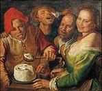 Vincenzo Campi (1536-1591), The Ricotta-Eaters.  Lyon, Musée Des Beaux-Arts (Picture Gallery)