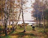 Victor Westerholm (1860-1919), An October Day in Aland, 1885, 204x148 cm.  Helsinki, Ateneum, Suomen Taiteen Museo/Ateneum, Museet För Finländsk Konst...