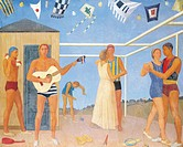 Giuseppe Capogrossi (1900-1972), Ballet on the River, 1936.  Private Collection