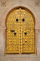 Yellow Door, Tunis Medina, Tunisia