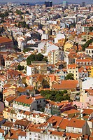 Lisbon city skyline from St_Jorge Castle, Portugal, Europe
