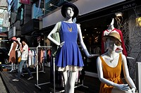 Seoul (South Korea): mannequins at the entrance of a boutique in Mapo-gu
