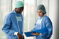 Two surgeons discussing about something