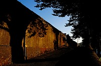 Wall of cemetery, Nava, Asturias, Spain