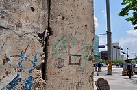 Seoul (South Korea): part of the former Berlin Wall by the Cheonggyecheon Stream