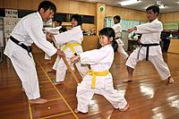 Naha (Japan): karate class in the Shuri neighborhood; Okinawa is the birthplace of karate