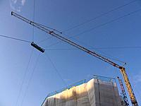 Germany, Munich, View of building crane against blue sky