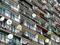 Satellite dishes, Berlin, Germany