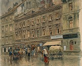 Austria, Vienna, House of composer Franz Schubert 1797_1828 at 6 Kettenbruckengasse, watercolor