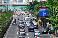 Busan (South Korea): urban traffic in the Nam-gu neighborhood