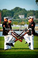 110727-N-OA833-004 ANNAPOLIS, Md  July 27, 2011 Members of the U S  Marine Corps Silent Drill team perform at the U S  Naval Academy for the Class of ...