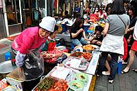 Busan (South Korea): street food stalls in the Nampo-dong area