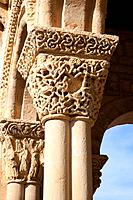 Capitals and columns of the portico of the Church of San Lorenzo