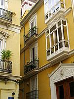Architecture in old town, Valencia, Comunidad Valenciana, Spain