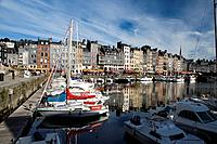 Old Port of Honfleur  Lisieux district  Calvados department, in Lower Normandy region  France