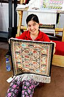 Rug Weaving Kusadasi Turkey Aegean Mediterranean Skilled Silk