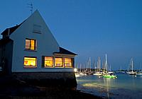 Les Vénetès restaurant  Arradon, Bay of Morbihan, Brittany, France, Europ