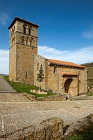 Romanesque church of Cervatos, Cantabria, Spain.