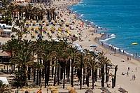 Bajondillo beach, Torremolinos, Malaga Province, Costa del Sol, Andalusia, Spain.