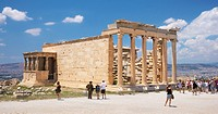 The Erechtheum Temple, the Acropolis, Athens, Greece