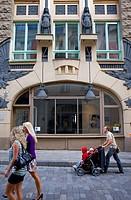 Facade of Draakoli gallery,in 18 Pikk street,Tallinn,Estonia