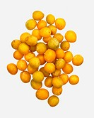 Many mirabelle plums