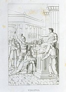 Vittorio Alfieri (1749-1803), Virginia, 1777-1783. Engraving from the Tragedies, 1820 edition.  Milan, Biblioteca Nazionale Braidense (Library)
