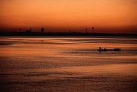 Mauritania, Senegal river, sunset