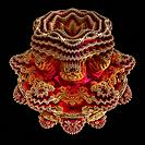 Mandelbulb fractal. Computer_generated image of a three_dimensional analogue derived form a Mandelbrot Set