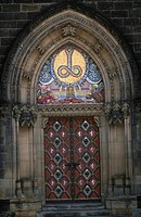 Czech Republic - Prague. Vysehrad. Church of Sts. Peter and Paul. Gate