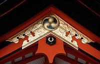 Japan - Kansai - Kyoto - Shintoist Temple Yasaka (Yasaka-jinja). Architectural detail