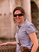 Female tourist in Rome Italy