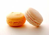 Macaroon Sweet Food Two Objects