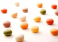 Macaroon Sweet Food Large Group Of Objects