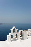 church bells in Santorini, Oia, Cyclades Islands, Cyclades Prefecture, Greece, Europe