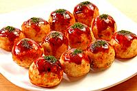 Octopus Dumplings Takoyaki with Sauce