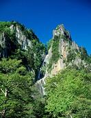 Ginga Waterfall, Sounkyo, Mt. Daisetsu national park, Kamikawa, Hokkaido, Japan