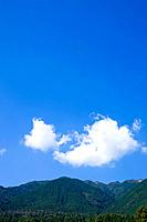 Forest and mountain range, Hira_san, Otsu, Shiga Prefecture, Japan