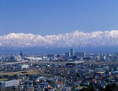 Toyama urban area, Tateyama mountain range, Toyama, Toyama, Japan, KENCHOSHOZAICHI