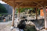 Sunayu, Asahi River, Yubara Hot Spring, Yubara, Maniwa, Okayama, Sanyo, Japan