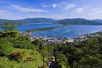 View from Kasamatsu park, Amanohashidate cable, Amanohashidate, Hakusya Seisyo, beach, scenic spot, Miyazu, Kyoto, Japan