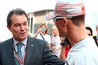 Artur Mas, Michael Schumacher, Formula One, Spanish Grand Prix, Barcelona, Espanha