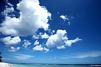 Beach and sky, Guam, USA