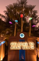 WELCOME TO MIAMI BEACH SIGN MIAMI BEACH FLORIDA USA