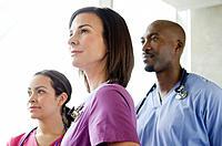 Doctors standing in hospital